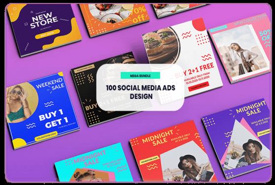 100 Template Desain Iklan Social Media