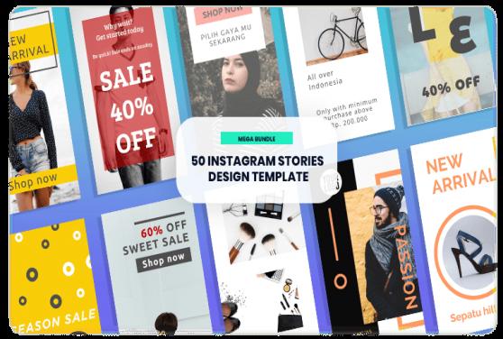 50 Template Desain Instagram Stories