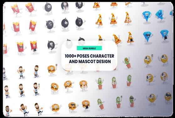 1000+ pose Character dan Mascot