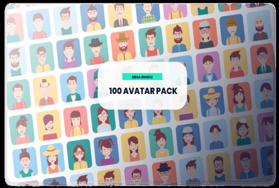 100 Template Desain Avatar